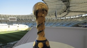 Confederations Cup Trophy at Maracanã Stadium