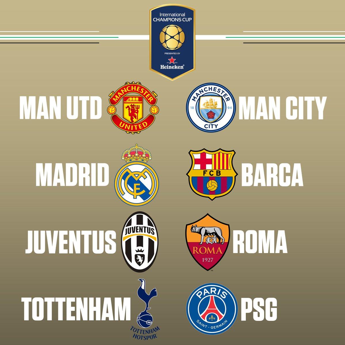 Juventus Calendario Champions.International Champions Cup 2017 Il Calendario Delle Italiane