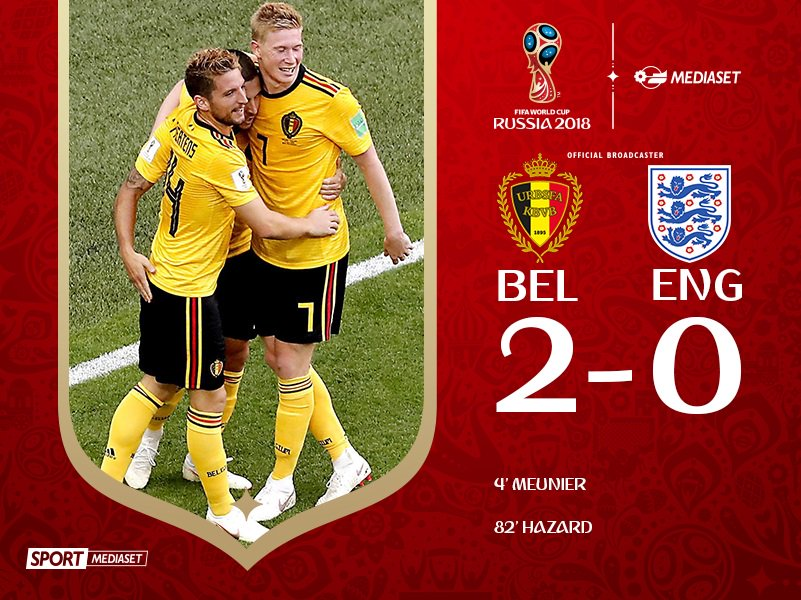 Russia 2018: Il Belgio chiude al terzo posto. Notizie sportive del giorno