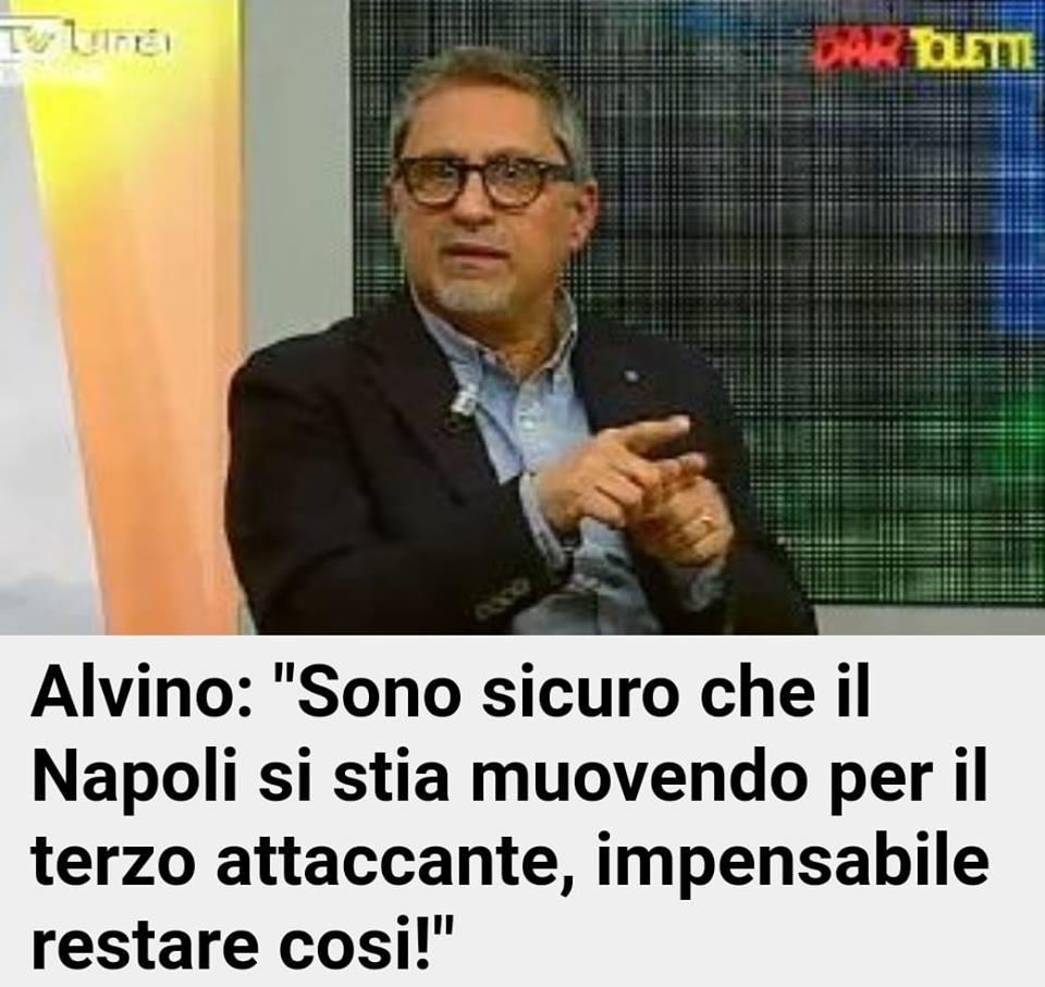 """Carlo Alvino: """"Il Napoli comprerà un nuovo attaccante"""""""