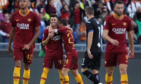 Roma, 4 goal alla Sampdoria. Primo punto per Ventura. Empoli batte Udinese.