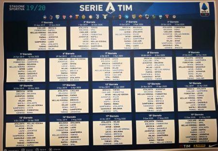 Calendario serie A 19-20