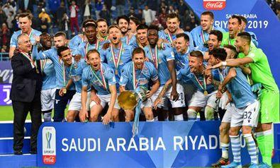 Supercoppa italiana, la Lazio vince a Riad battendo la Juventus 3-1