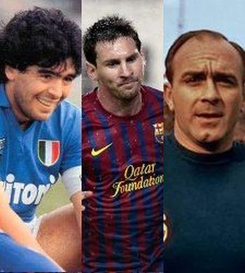 Messi Maradona Di Stefano